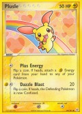 Plusle aus dem Set EX Hidden Legends