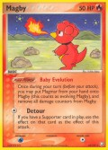 Magby aus dem Set EX Team Rocket Returns